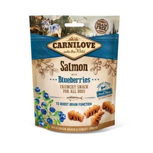 Dog Crunchy Snack - Salmon with Blueberries 200g
